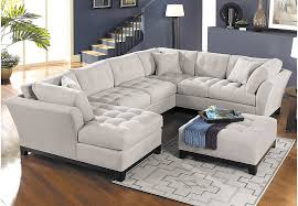 Living Room Sets Sectionals Home Metropolis Platinum 4 Pc Sectional Living Room