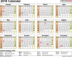 2018 calendar download 17 free printable excel templates xlsx
