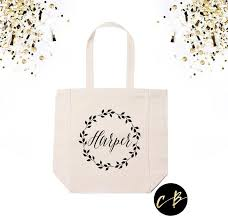 wedding totes personalized tote bag personalized wedding wreath tote bag