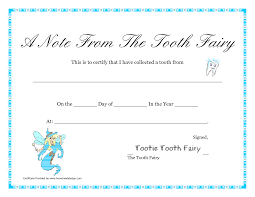 free printable tooth fairy letter tooth fairy certificate