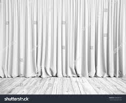 white curtains wood floor background 3d stock illustration