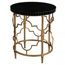 uttermost 24606 mosi gold black accent table homeclick com