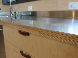 birch kitchen island stainless steel laminated to baltic birch woodweb s laminating and