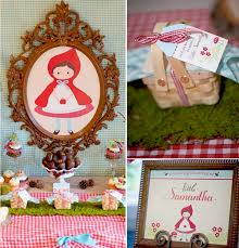 vintage theme baby shower party little red riding hood themed