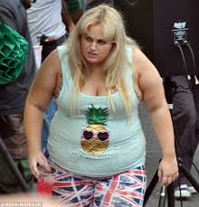 rebel wilson shoots a scene with sacha baron cohen for new film