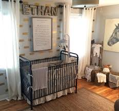 ethan s horse and hound nursery jenny lind crib jenny lind and horse and hound nursery with black white gold and gray accents love the