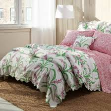 colorful pink green u0026 white floral duvet covers and quilts