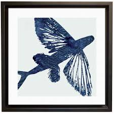 Hanging Canvas Art Without Frame Flying Fish Canvas Wrap Bluecoast