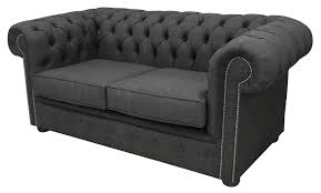 Linen Chesterfield Sofa by Designersofas4u Buy Grey Linen Chesterfield Settee