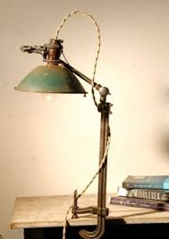 industrial vintage clamp lamp desk lamp in by littledogvintage