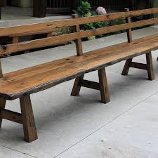 live edge barn wood bench with back rest 15 u0027 long benches