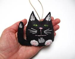 cat ornament black cat ornament cat
