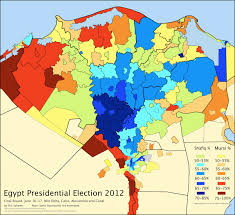 2012 Presidential Election Map by District Map Of The Presidential Election In Lower Egypt An