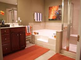 Orange Bathroom Rugs by Colorful Bathrooms From Hgtv Fans Bathroom Ideas Orange Blue And