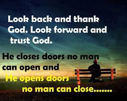 motivational quotes look back and thank god look forward and