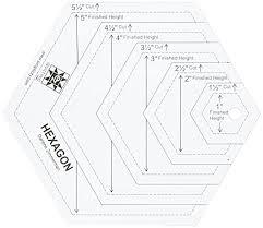 ez quilting hexagon shapes acrylic template amazon co uk kitchen