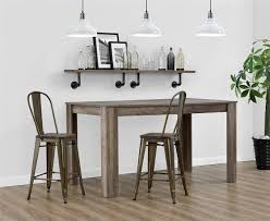 Floating Bar Table Dining Room Amazing Kitchen Seating Using Cool Metal Counter