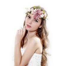 flower bands awaytrawaytr bohemia big lilies floral crown party wedding hair