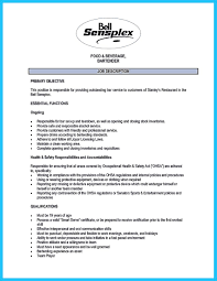 Resume Sample Bartender by Bartender On Resume Free Resume Example And Writing Download