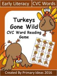 thanksgiving freebie for learning and practicing cvc words