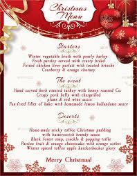 christmas menu samples download free u0026 premium templates forms