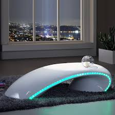 Coffee Tables With Led Lights Gretton Curve Coffee Table In White High Gloss With Led Lighting