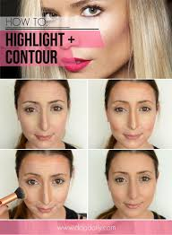 diy makeup highlight and contour contoue how