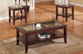 Glass Top Coffee Tables And End Tables Brown Rectangle Traditional Style Wooden Coffee Table Designs