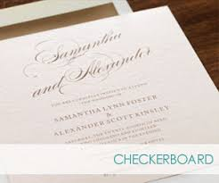 checkerboard wedding invitations checkerboard wedding invitations