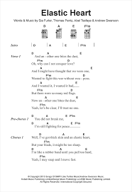 Sia Chandelier Lyric Elastic Heart Sheet Music By Sia Ukulele Lyrics U0026 Chords U2013 122392