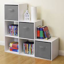 bedroom shelves white 6 cube kids toy games storage unit girls boys bedroom shelves