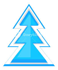 abstract xmas tree vector design royalty free stock image