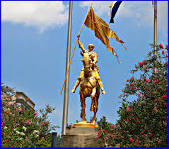 Nola Flags Joan Of Arc Statue Maid Of Orleans Nola Neighborhoods