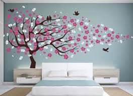 Cherry Blossom Tree Wall Decal For Nursery Cherry Blossom Walls Decal Vinyl Design Idea And Decorations