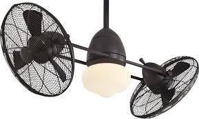 Twin Ceiling Fan by Gyro Wet Model F402 Orb Ceiling Fan And Fan Accessories By Minka Aire