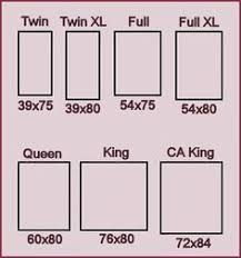 Measurements Of King Size Bed Frame Mattress Sizes Chart Mattress Chart And California King Beds