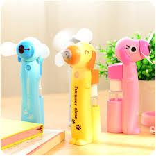 water bottle misting fan portable mini battery spray bottles water mist fan cartoon mini