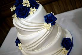3 tier wedding cake with fondant wedding party decoration