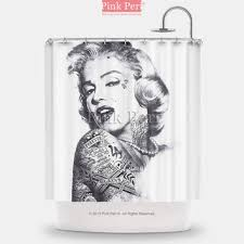 sketch tattooed marilyn monroe shower from pink peri for the