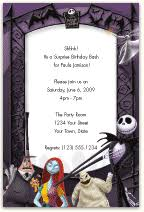 nightmare before christmas party invitation cogimbo us