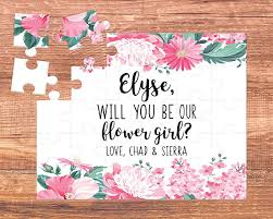 will you be my flower girl gifts flower girl puzzle flower girl gift will you be my