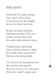 Spider Floor L Poem Of The Week Baby Spider Children S Author David L