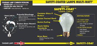 safety coated light bulbs multi watt safety coat 60a19 frost light bulb mebulbs