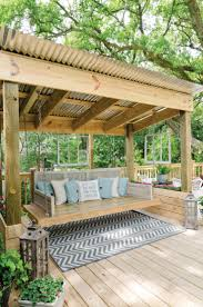 patio backyard makeover patio ideas with sloping roof and wood