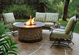simple backyard paver fire pit outdoor decorate