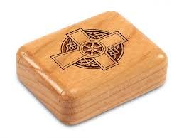 wooden celtic cross celtic cross engraved secret wooden box heartwood creations