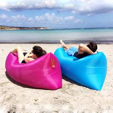 Beach Lounger Lazy Bed Beach Bed Fast Inflatable Air Sleeping Bag Camping Sofa