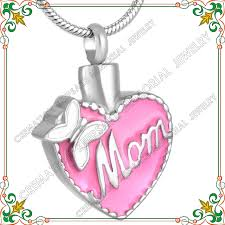 memorial pendants cmj8555 memory for cremation jewelry pink resin fashion women
