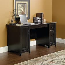 techni mobili double pedestal laminate computer desk chocolate techni mobili complete computer workstation with cabinet and drawers