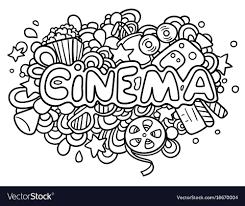 doodle vectors free cinema doodle royalty free vector image vectorstock